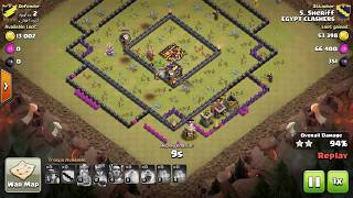 Clash of clans - How to 3 stars TH10 with mass miners attack 2