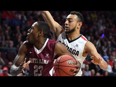 HIGHLIGHTS: Men's Basketball Falls to No. 4 Gonzaga 77-68 | March 6, 2017