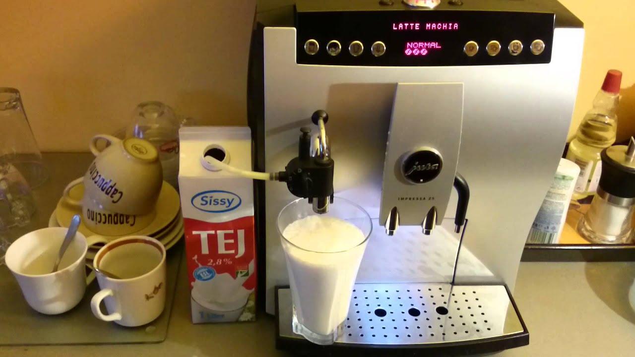 jura impressa z5 latte macchiato egyszer en youtube. Black Bedroom Furniture Sets. Home Design Ideas