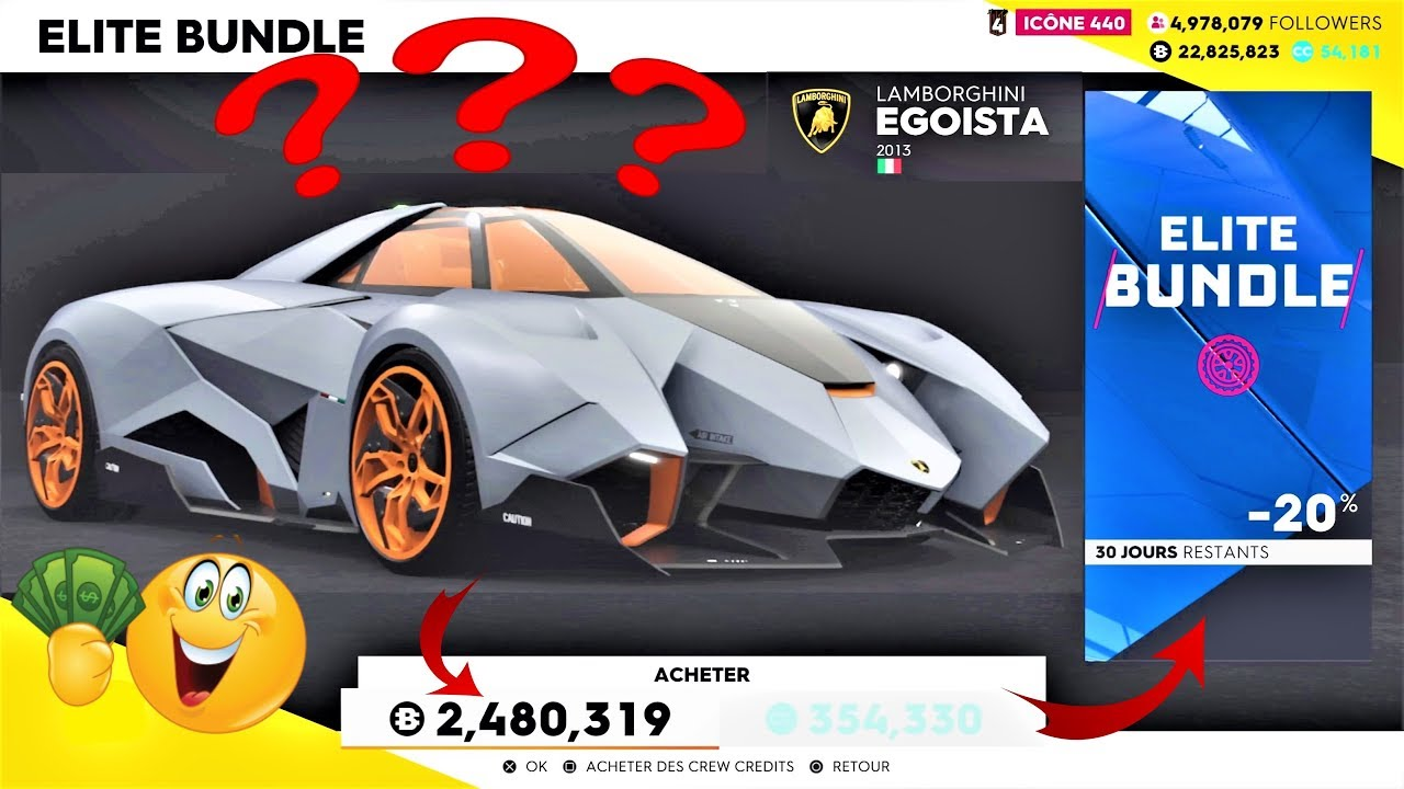 The Crew 2 Custom Lamborghini Egoista Test Complet Youtube