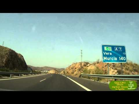 0066  SPAIN trip from Almeria to Aguilas - Street view car 2012 Driving through