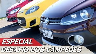 VW GOL x FIAT PALIO x CHEVROLET ONIX - DESAFIO DOS CAMPEÕES DE VENDAS - ESPECIAL #22 | ACELERADOS thumbnail