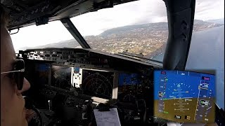 Download Boeing 737 MAX 8 - Landing in Funchal, Madeira - cockpit view Mp3 and Videos