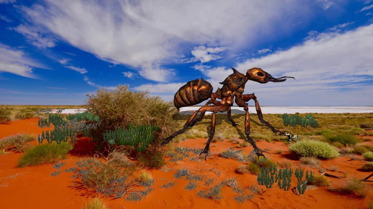 giant insect in australian outback