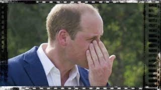 Le prince William ému en rendant hommage à Lady Diana