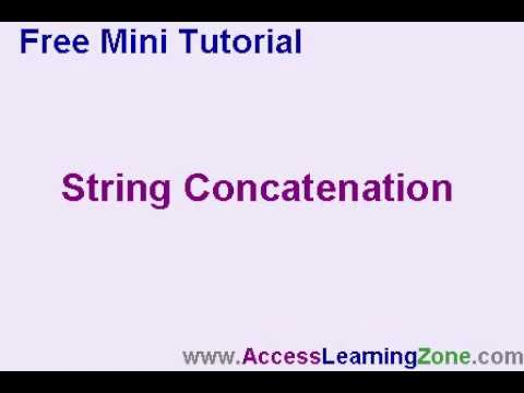 Microsoft Access String Concatenation