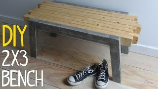 Build a Simple 2x3 Bench (with Hidden Fasteners)