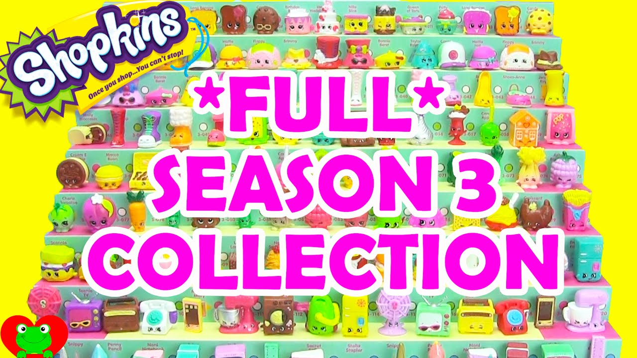 Shopkins Season 3 Collection Complete By Toy Genie