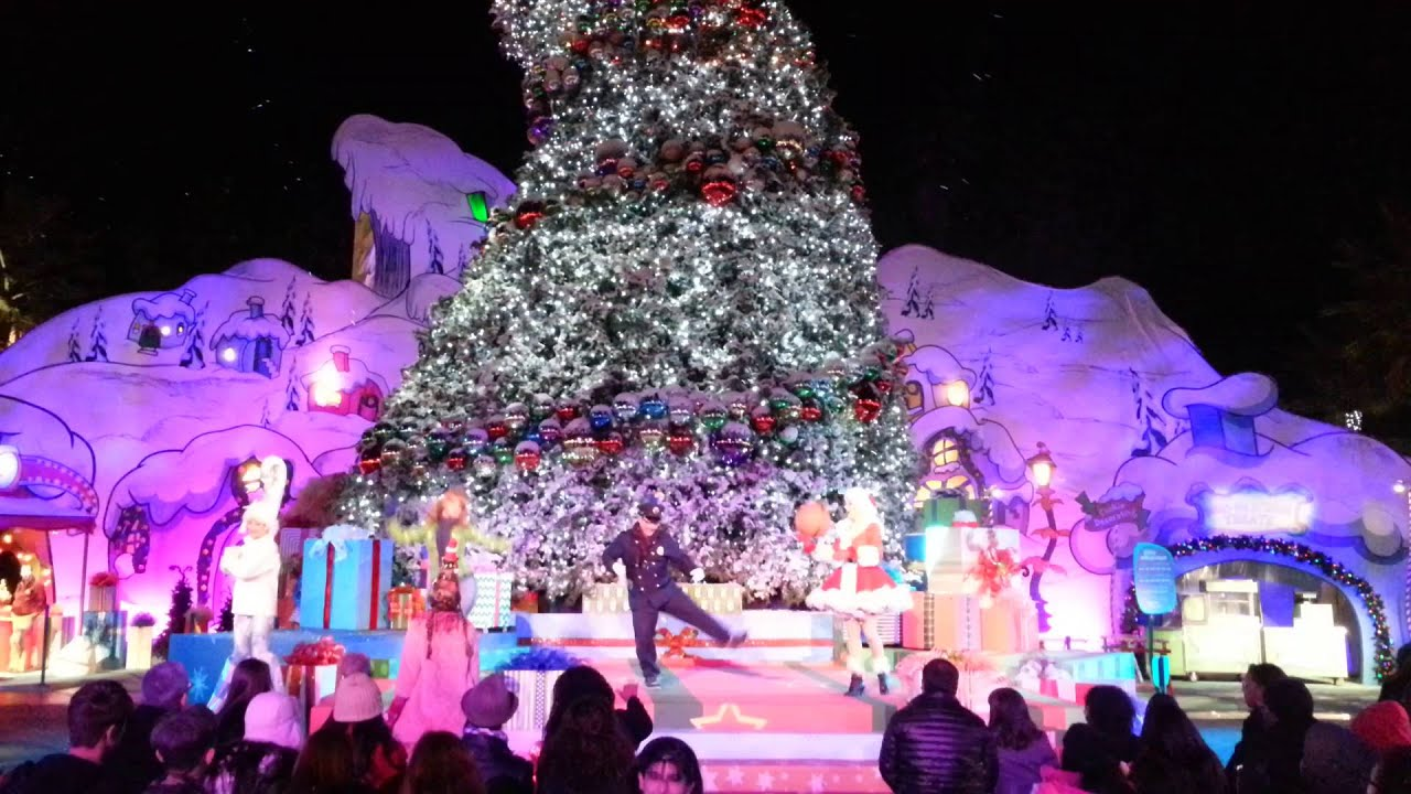 "Universal Studios Hollywood. Photo by Colleen Park. Holiday season is already in full swing at Universal Studios Hollywood, with its annual ""Grinchmas"" festivities complemented this year with."