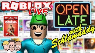 🔴 Roblox LIVE with Schlamaddy 🔴 | Weekly Robux Giveaway Challenge | Family Friendly Livestream