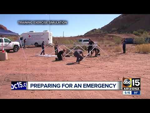 Arizona exercise focuses on post-quake exodus fro California
