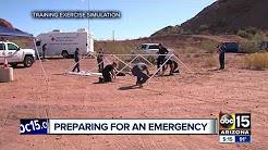 Arizona exercise focuses on post-quake exodus fro California