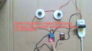 2 CH RF WIRELESS REMOTE CONTROL SWITCH FOR LIGHTS ON/OFF 315MHZ/433MHZ