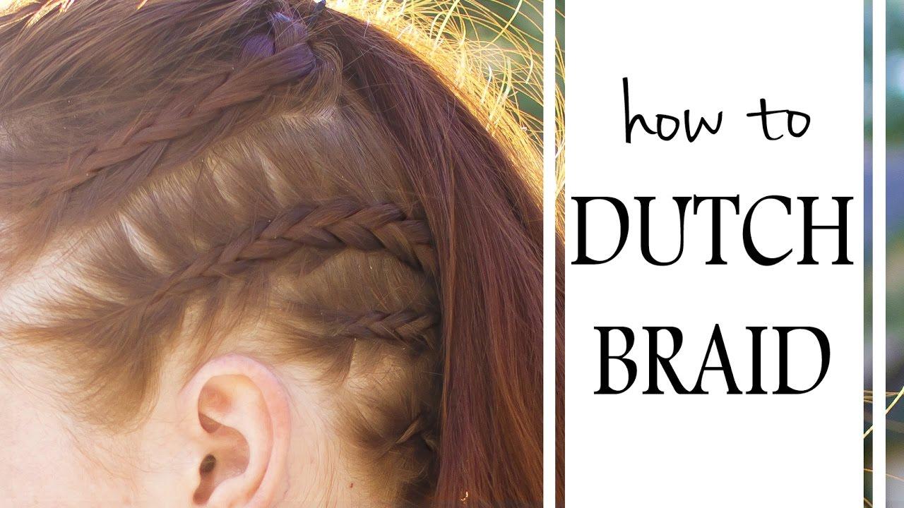 Basic Braiding How To  The Dutch Braid