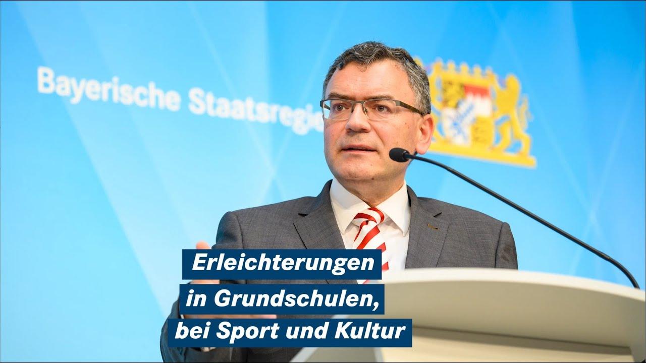 Staatsminister Dr. Florian Herrmann nach der Kabinettssitzung am 22. Juni 2021 - Bayern