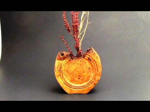 How to Turn a Multi Axis Cherry Burl Vessel