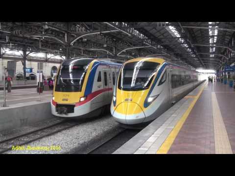 Malaysian Railways - Hunting Train in Kuala Lumpur Railway Station