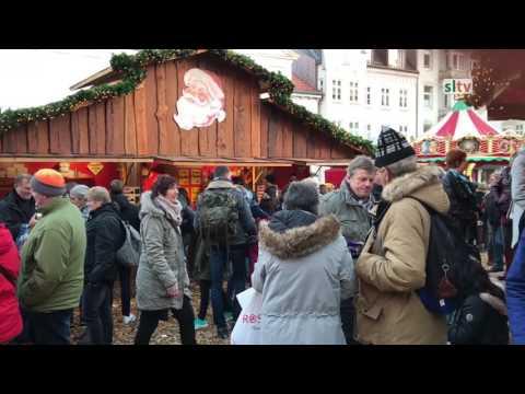 julehyggen på gågaden i Flensborg