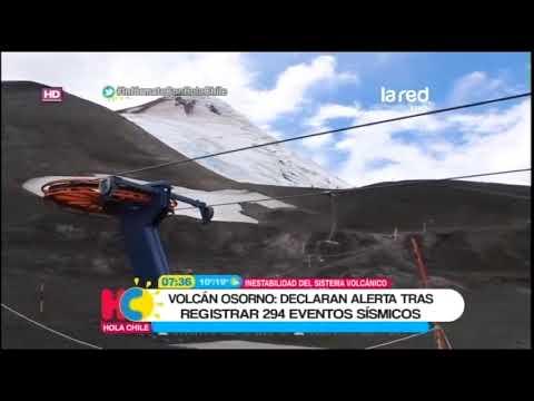 Preocupación por actividad de volcán Osorno: Onemi declara alerta temprana preventiva