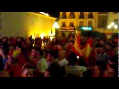 Fiesta España campeona de la Eurocopa 2012