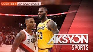 Los Angeles Lakers, yumuko sa Portland Trail Blazers sa season opener ng NBA