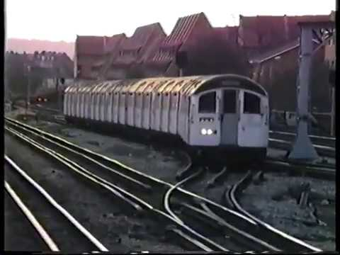 London Underground-A Stock & 59 Tube Stock on Metropolitan & Jubilee Lines 1986
