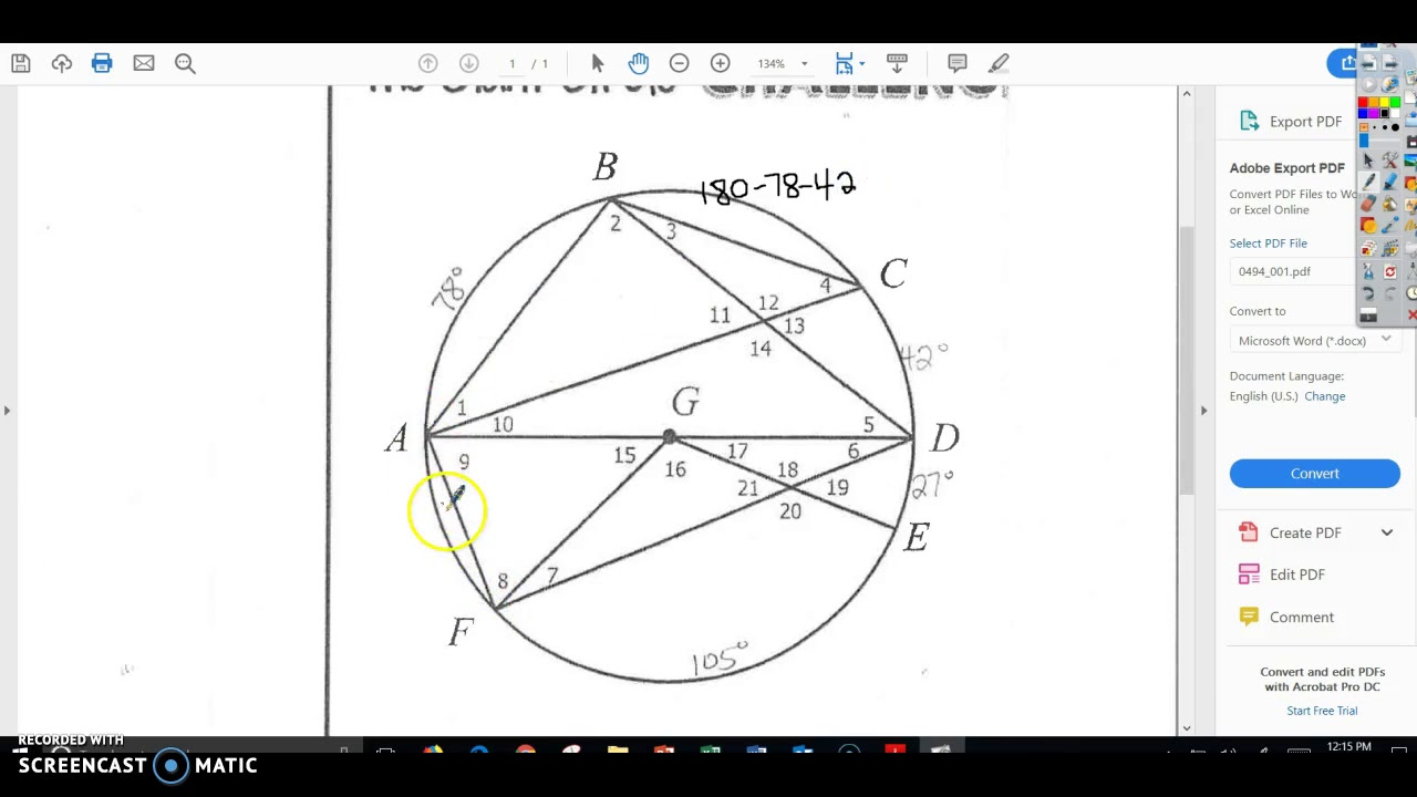 The Giant Circle Challenge Answers Key Geometry + mvphip
