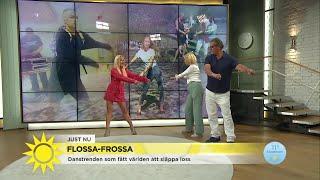 Här lär sig Jenny och Steffo nya trenddansen Flossa - Nyhetsmorgon (TV4)