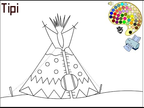 kids teepee coloring pages - photo#6