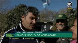 Ianuguran gigantografía de Cristian Pavón en Anisacate