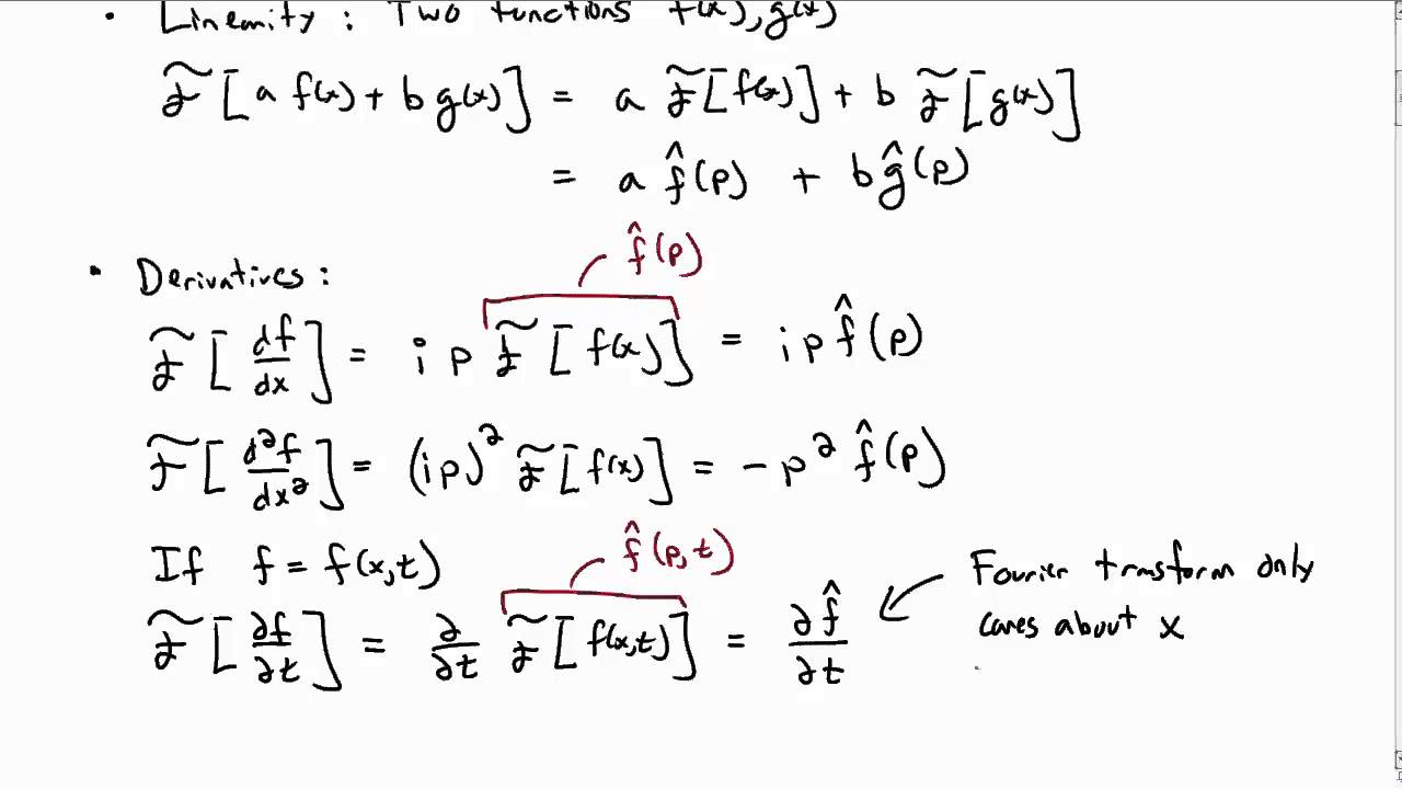 Fourier Transform Technique For Solving Pdes Part 1 Youtube