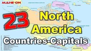 23 North America Countries-Capitals || GK Bits || MAHE ON || BODDU MAHENDER ||