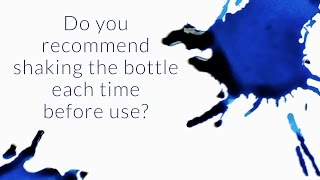 Do You Recommend Shaking the Ink Bottle Each Time Before Use? - Q&A Slices