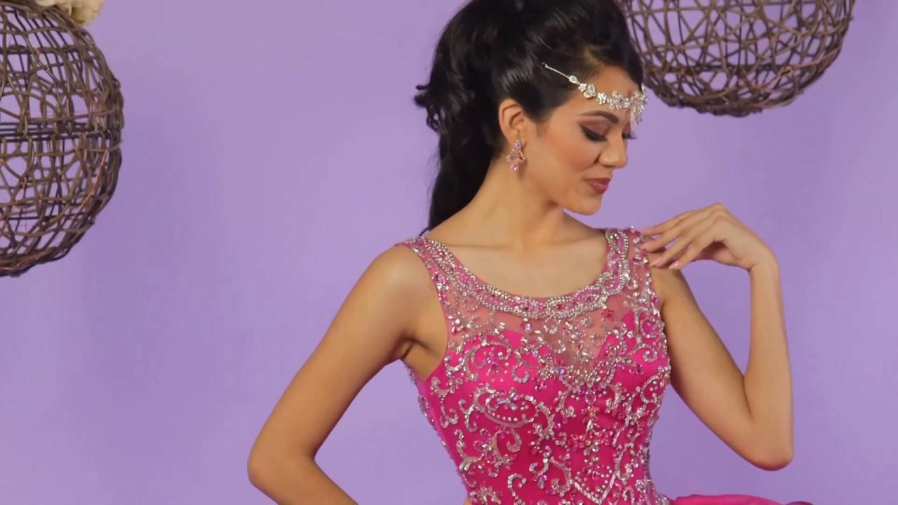 0ea72dd613c Q by DaVinci Quinceanera Dresses  Style 80374 - YouTube
