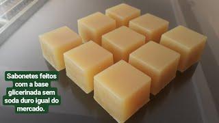 Faça sabonetes glicerinado com a base sem soda