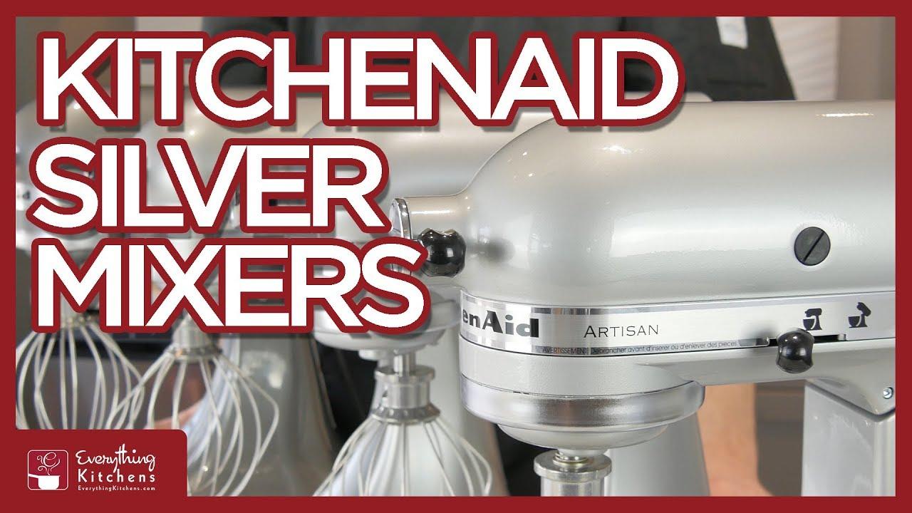 kitchen aid silver handles and knobs kitchenaid mixer color comparison metallic chrome more