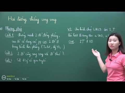 Quan hệ song song trong không gian - Thầy Nguyễn Phụ Hoàng Lân