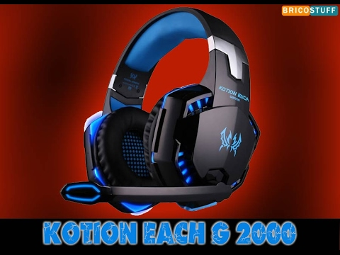 Déballage Casque Micro Filaire Gamer Pc Xbox Ps4 Kotion Each