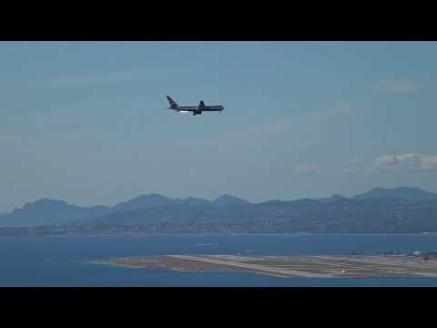 British Airways Boeing 767-300 beautiful last turn into the bay