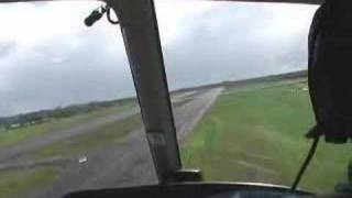 Helicopter Landing at Hilo Hawaii Blue Hawaiian Helicopters