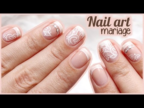 nail art mariage petit n ud et dentelle youtube. Black Bedroom Furniture Sets. Home Design Ideas