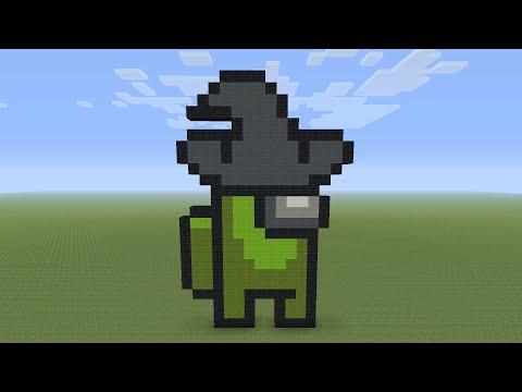Minecraft Pixel Art Alien Head Youtube