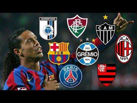 Clubs Ronaldinho Played For...[Grêmio,PSG,Barcelona,A.C.Milan,Flamengo,Atlético Mineiro,Querétaro..]