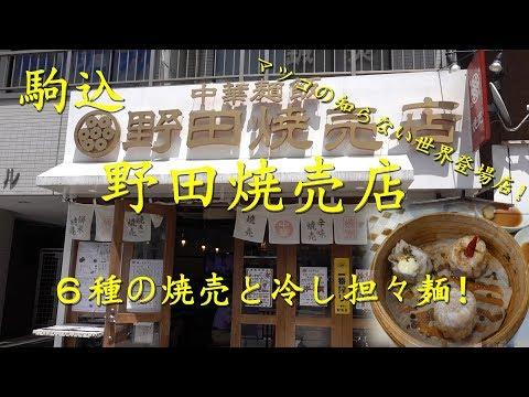 駒込【野田焼売店】の6種の焼売と冷やし担々麺 Siomai and Tantanmen noodle of NODA SIOMAITEN in Komagome.【飯動画】