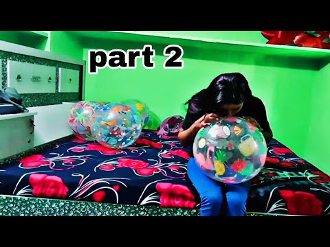 Inflating 24 inch 2 beach balls part 2 / intex 24 inch beach ball/ how to blow beach ball perfectly