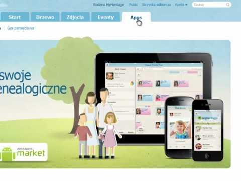 Nowy wygląd strony MyHeritage.avi
