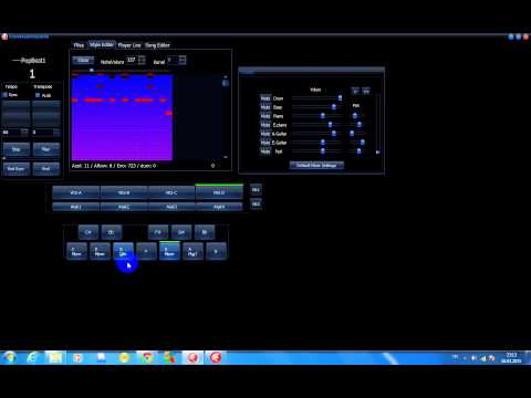 General Midi Auto Accompaniment,Live Midi Style Player,Quick Style Editor,Song Editor