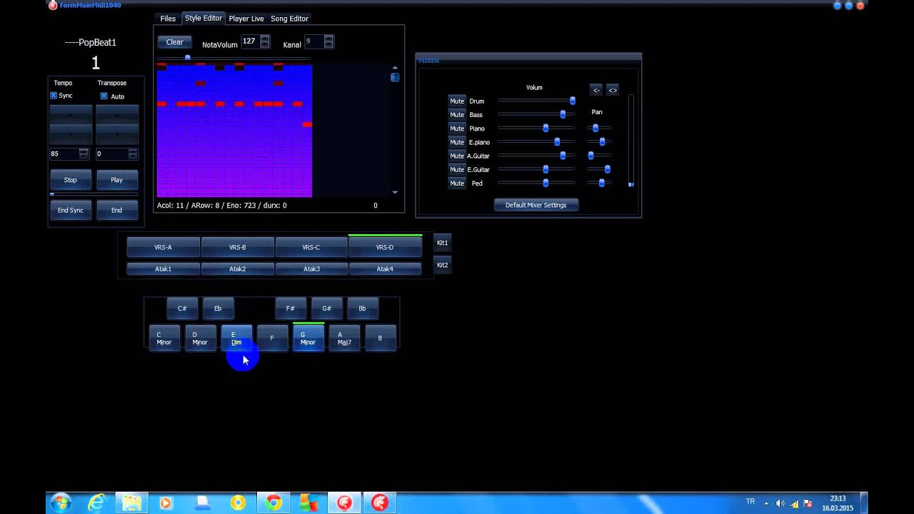 General Midi Auto Accompaniment,Live Midi Style Player,Quick Style  Editor,Song Editor