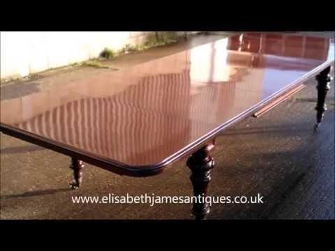 Large Original  Victorian Antique Dining Table