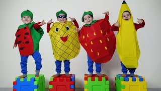 Yusuf Sihirli Meyvelere Dönüştü! Kids pretend play with magic fruit costumes